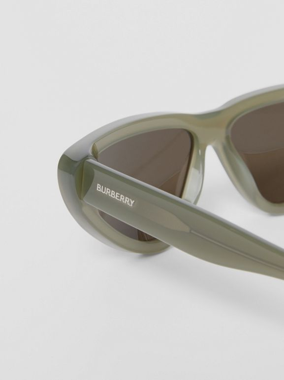 Triangular Frame Sunglasses in Opal Green - Women | Burberry - cell image 1