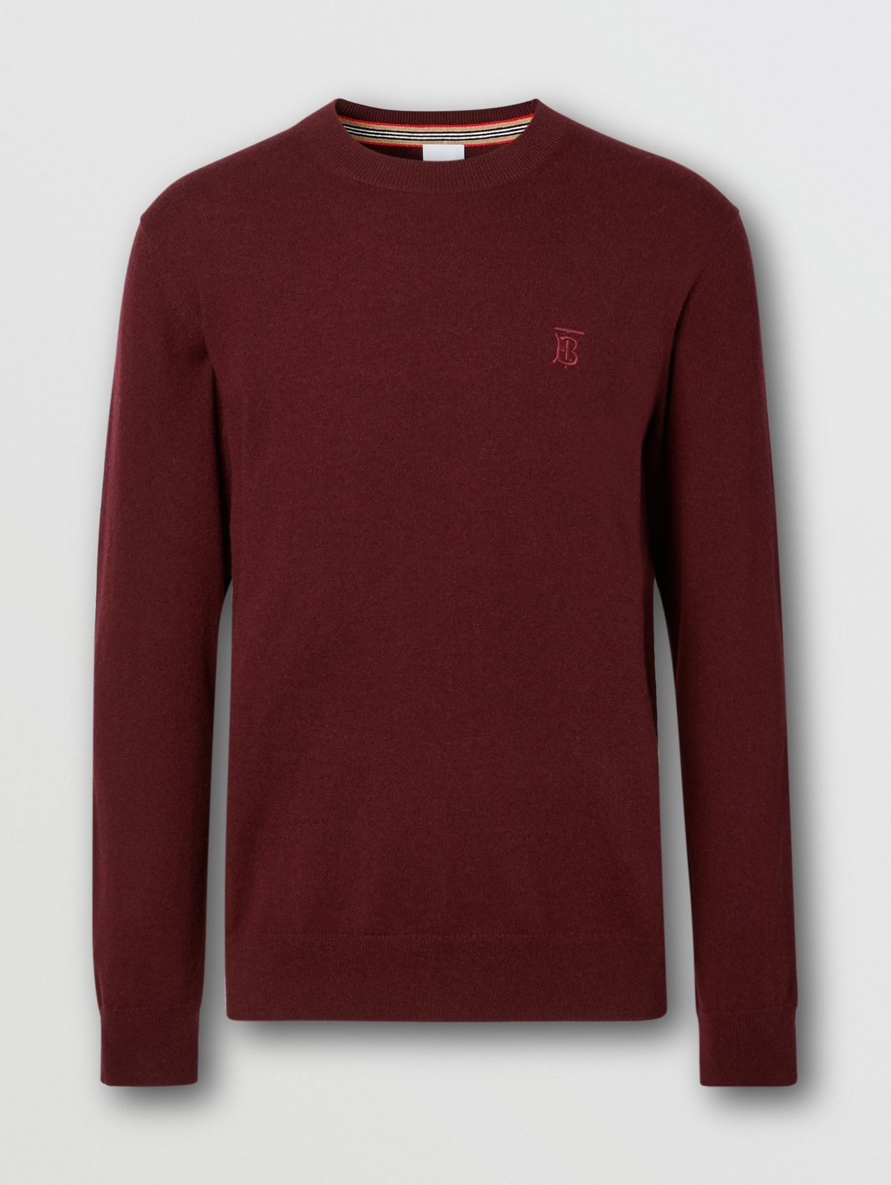 Monogram Motif Cashmere Sweater in Deep Merlot