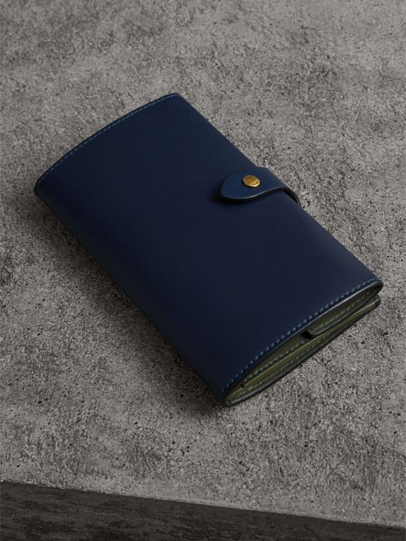 Equestrian Shield Two-tone Leather Continental Wallet in Mid Indigo - Women | Burberry - cell image 2