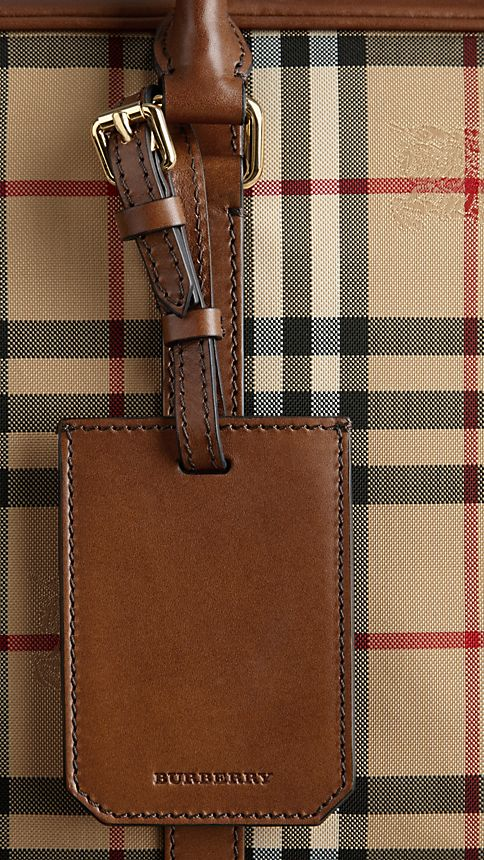 Tan Horseferry Check Crossbody Briefcase - Image 6
