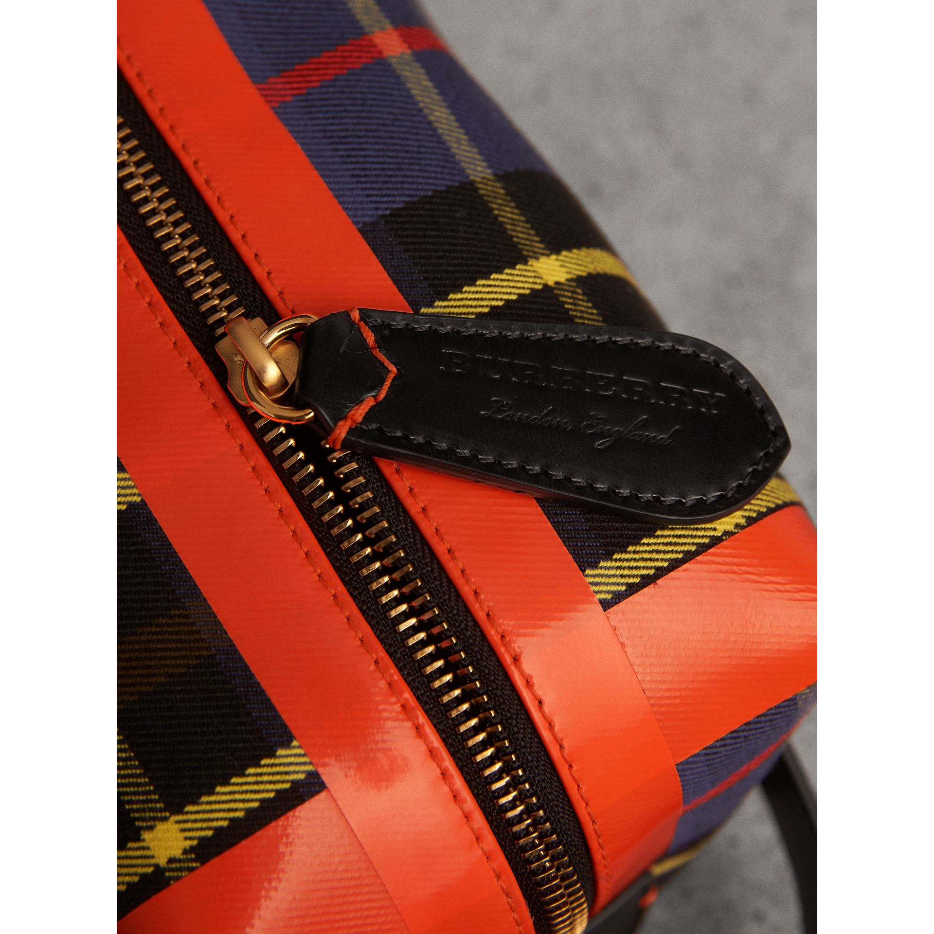 Tartan Cotton Pouch in Cobalt | Burberry Canada - gallery image 2