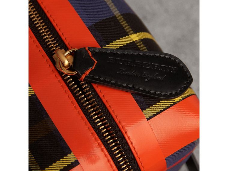 Tartan Cotton Pouch in Cobalt | Burberry Hong Kong - cell image 1