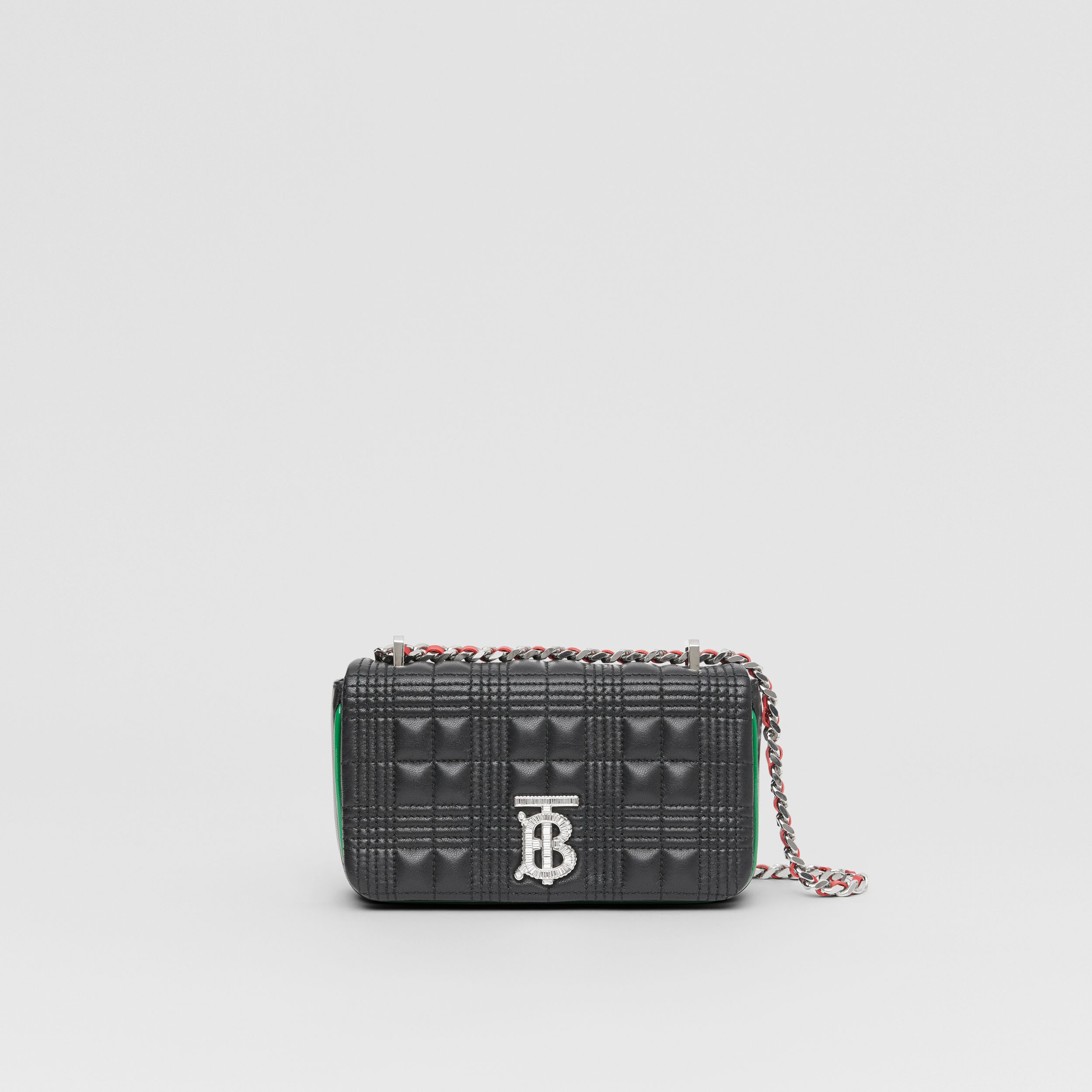 Mini Quilted Lambskin Lola Bag in Black - Women | Burberry - 1