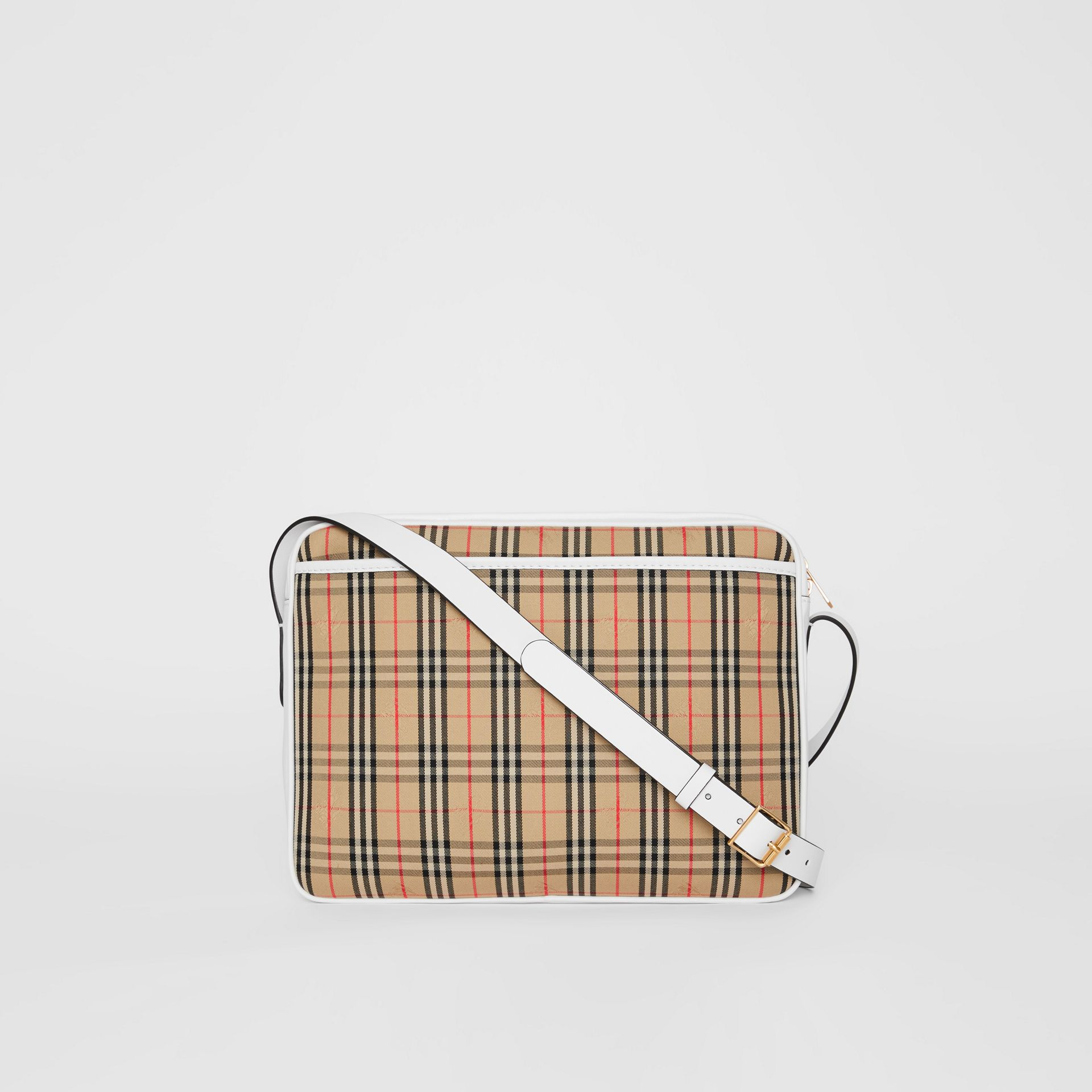 The Large 1983 Check Link Camera Bag in Chalk White - Men | Burberry - gallery image 7
