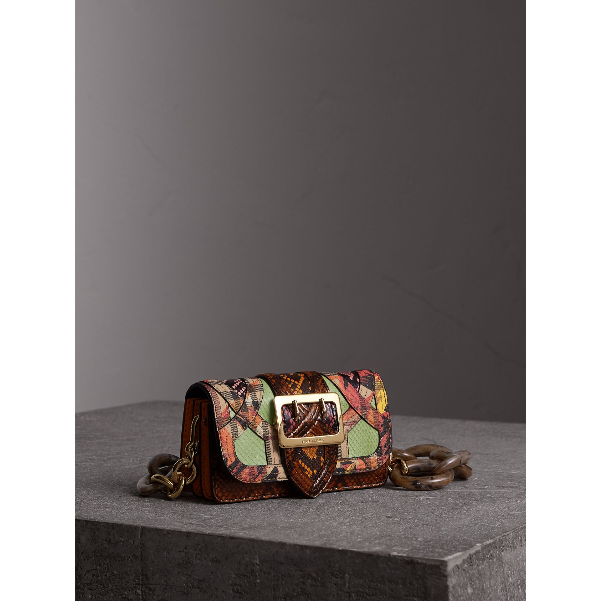 The Small Buckle Bag in Snakeskin and Floral Print - Women | Burberry - gallery image 7