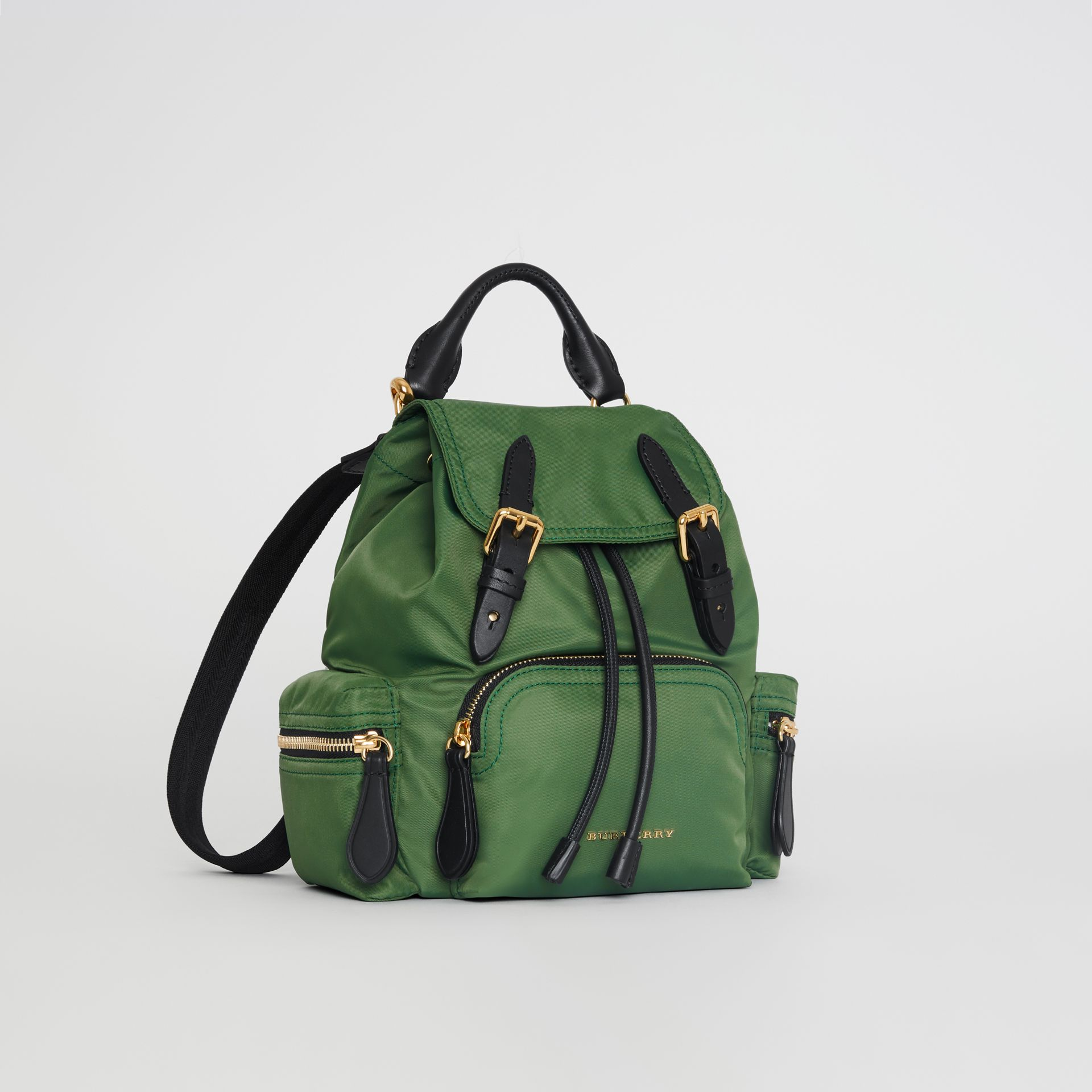The Small Crossbody Rucksack in Nylon in Racing Green - Women | Burberry Australia - gallery image 7