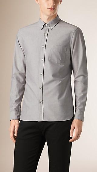 Camisa Oxford de algodão