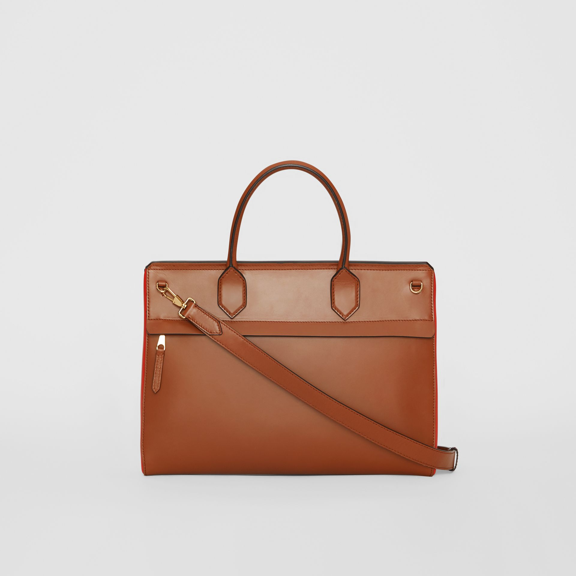 Medium Leather Elizabeth Bag in Malt Brown - Women | Burberry - gallery image 6