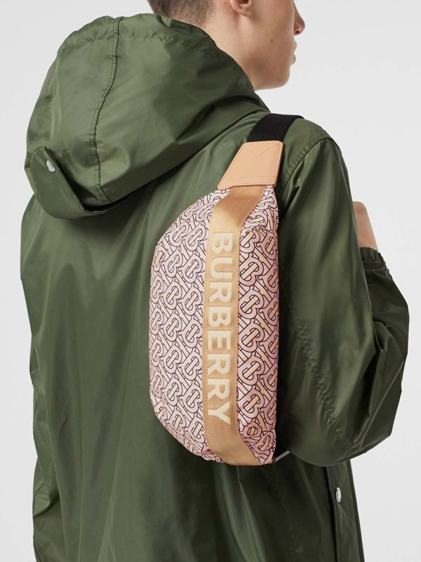 Medium Monogram Print Bum Bag in Blush - Women | Burberry United Kingdom - cell image 2