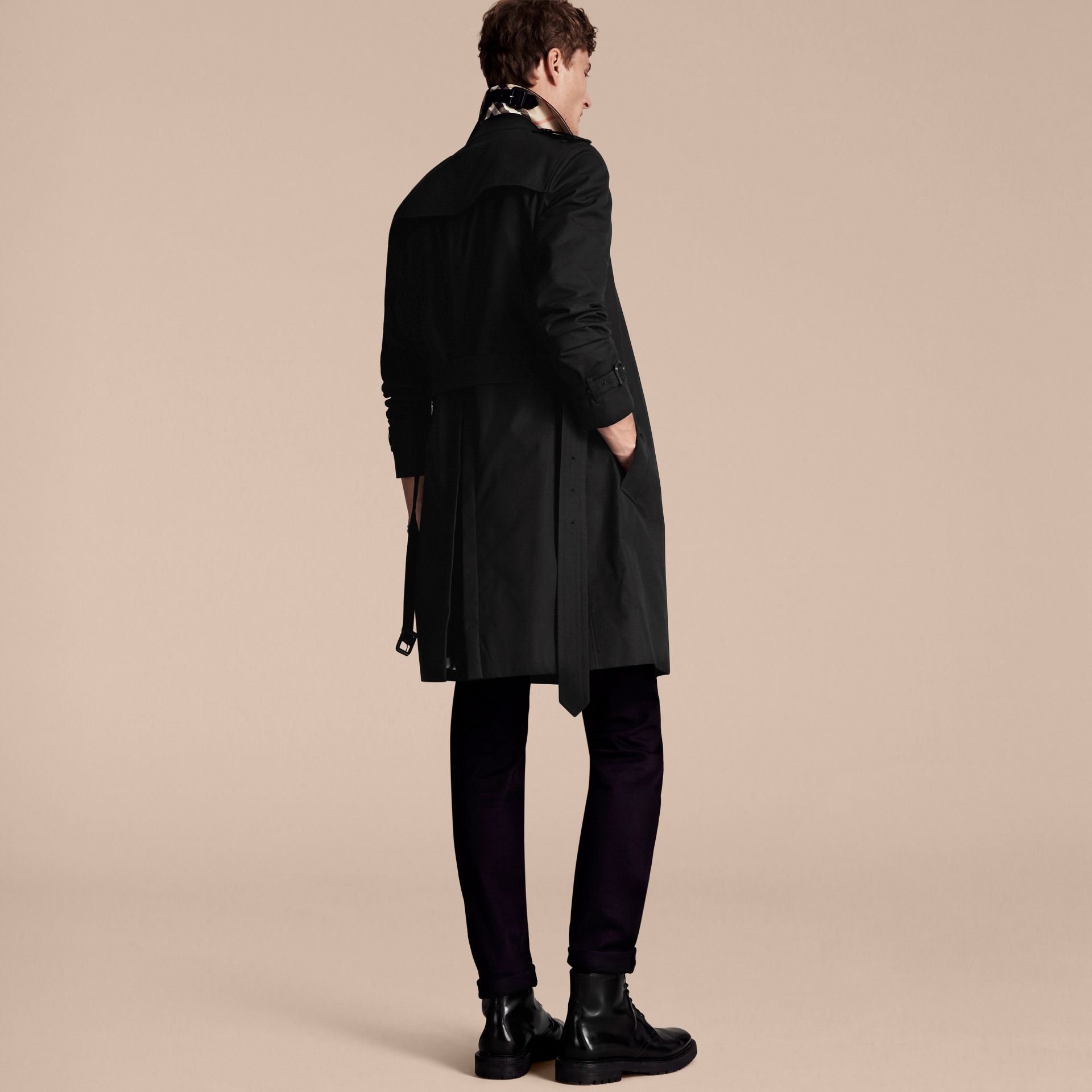 Black The Chelsea – Long Heritage Trench Coat Black - gallery image 3