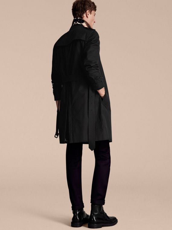 Black The Chelsea – Long Heritage Trench Coat Black - cell image 2
