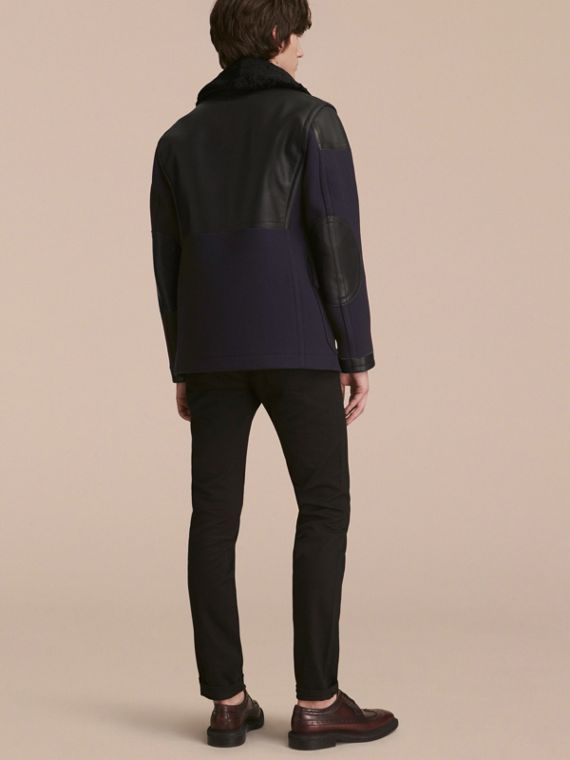 Pea Coat with Detachable Shearling Topcollar - cell image 2