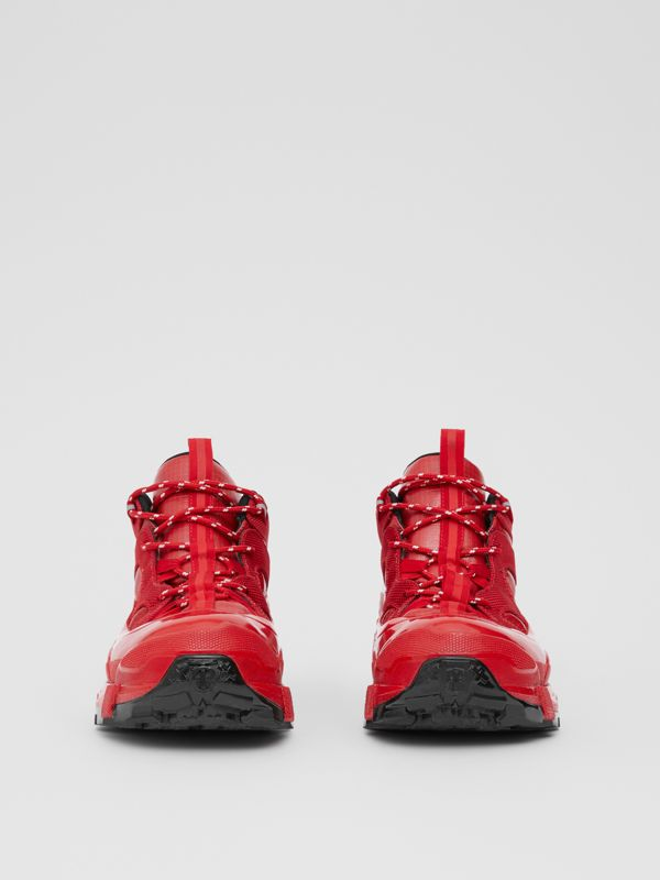 Nylon and Suede Arthur Sneakers in Red | Burberry - cell image 2
