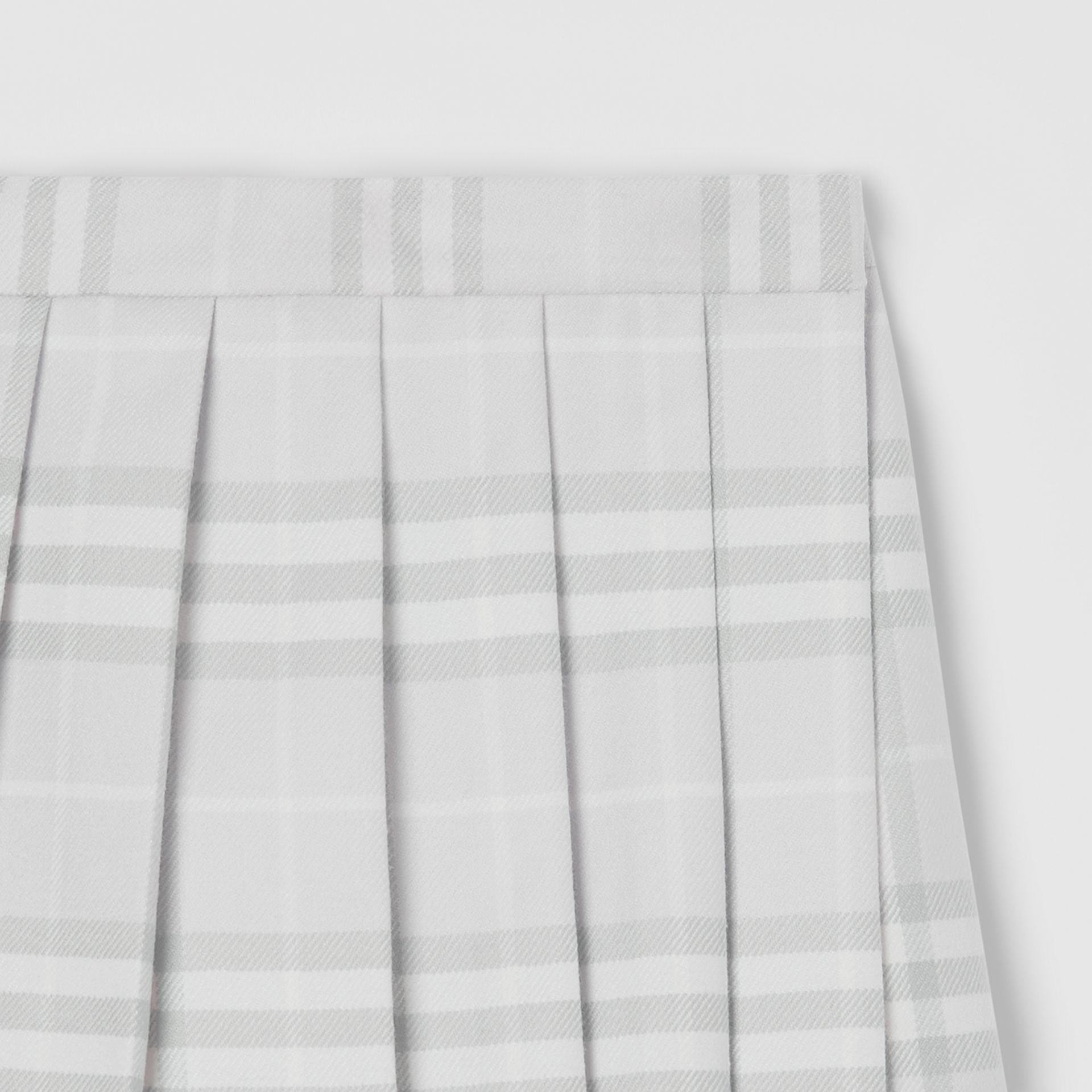 Vintage Check Wool Pleated Wrap Skirt in Pale Grey - Children | Burberry United Kingdom - gallery image 4