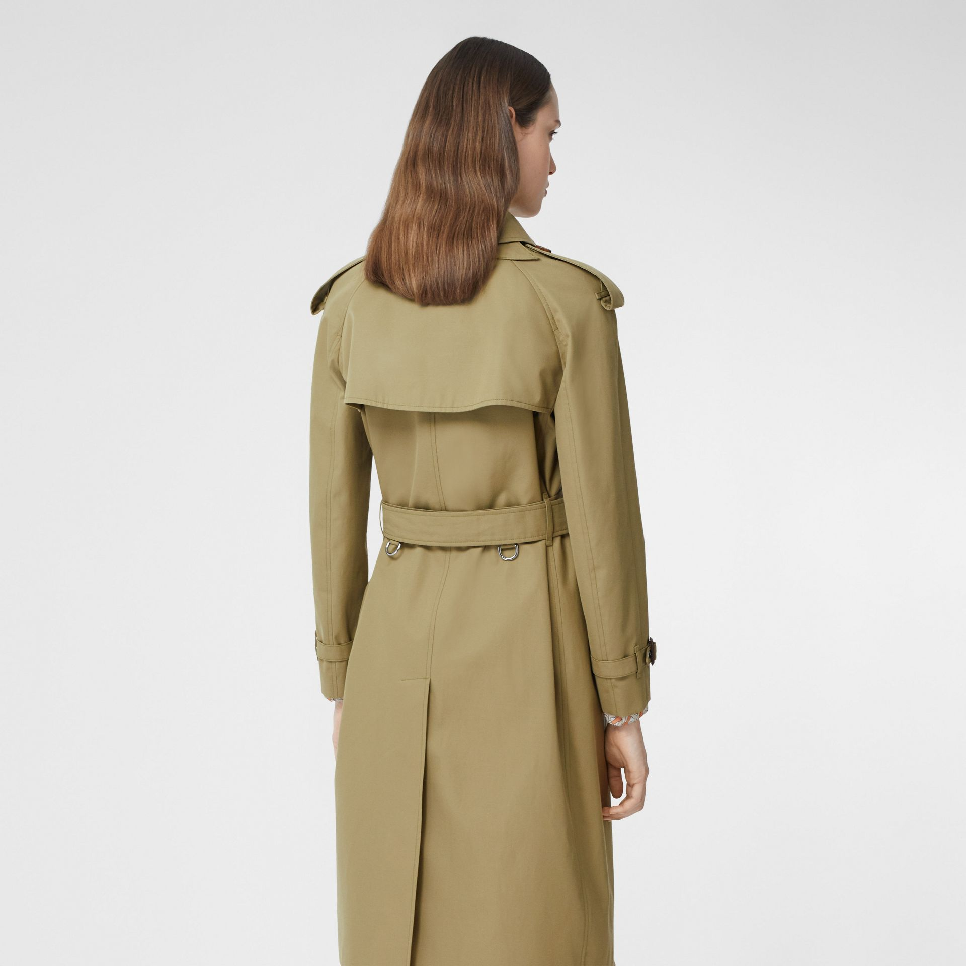 Animalia Print-lined Cotton Gabardine Trench Coat in Rich Olive - Women | Burberry Canada - gallery image 2