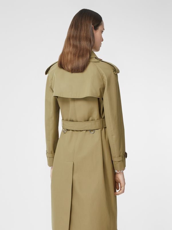 Animalia Print-lined Cotton Gabardine Trench Coat in Rich Olive - Women | Burberry Canada - cell image 2