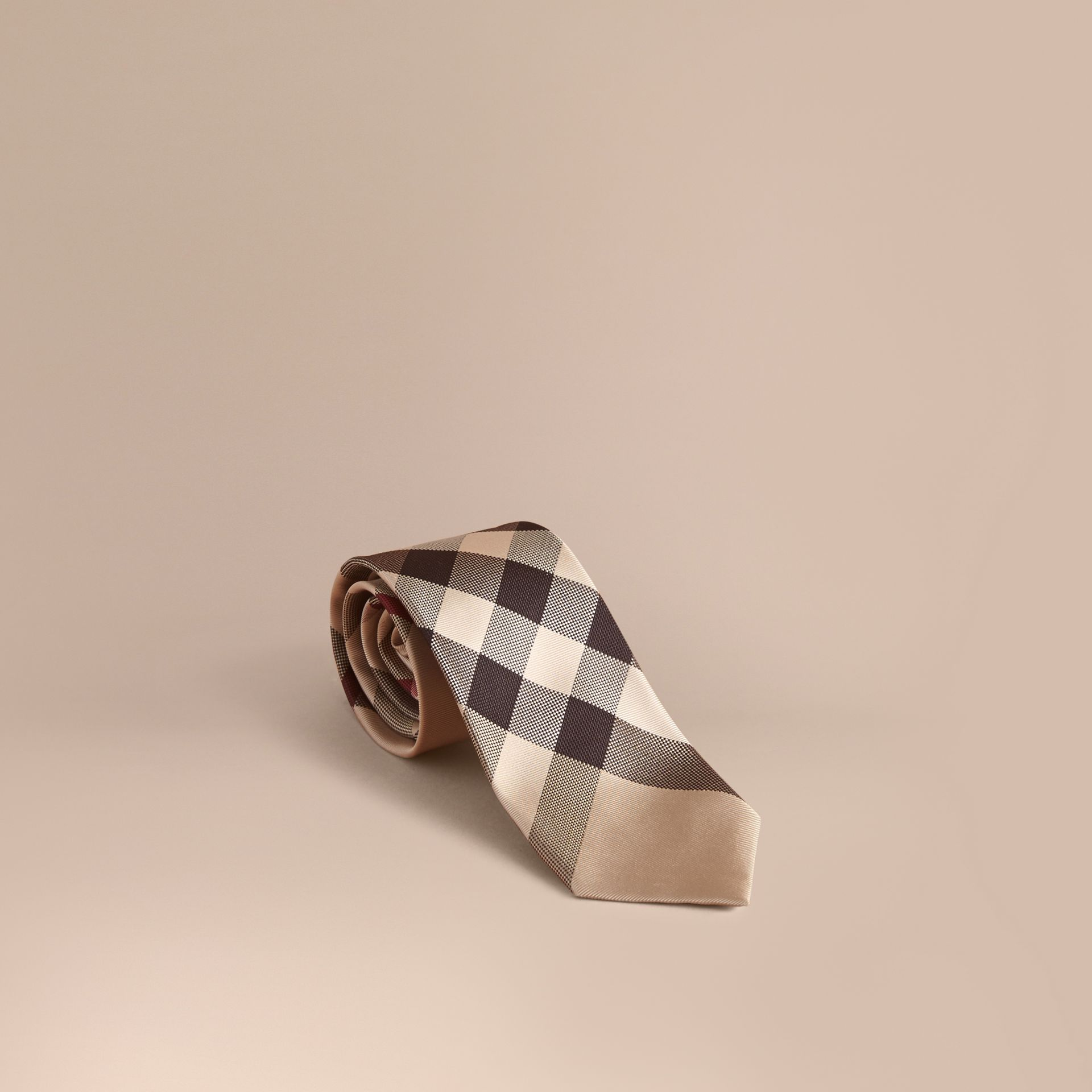 Modern Cut Check Silk Tie in New Classic - Men | Burberry Canada - gallery image 1