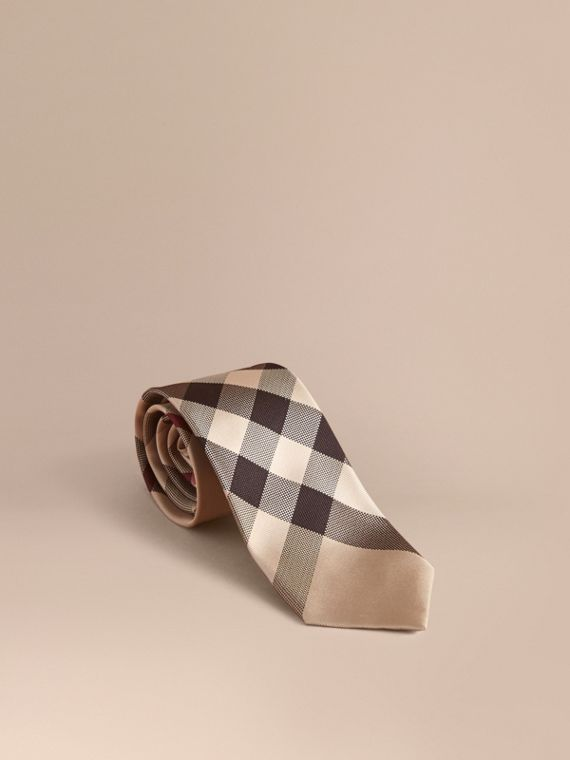 Modern Cut Check Silk Tie in New Classic