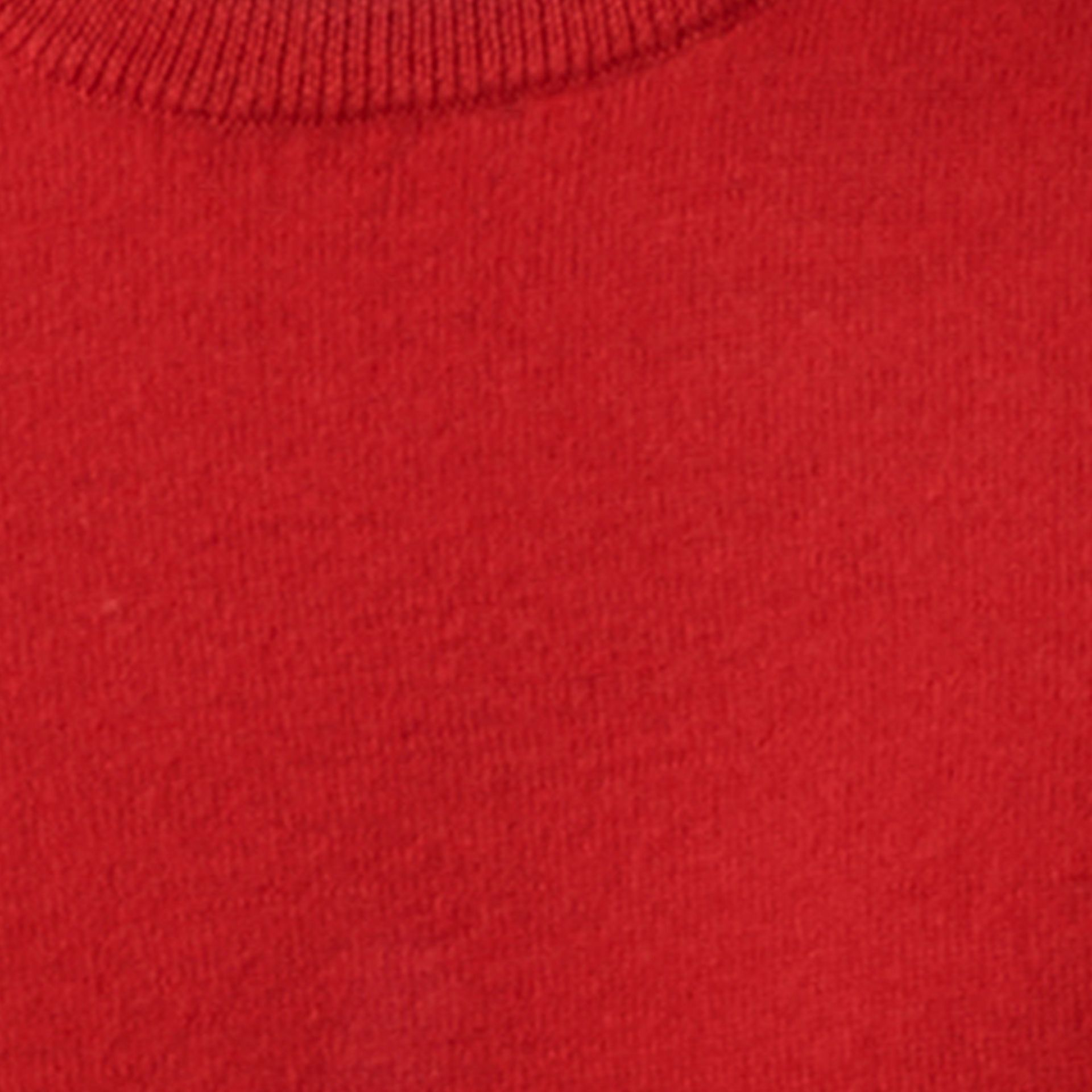 Military red Check Detail Merino Wool Sweater - gallery image 2
