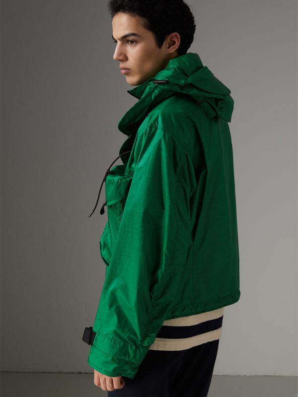Packaway Hood Showerproof Jacket With Gilet in Vibrant Green - Men | Burberry Singapore - cell image 2