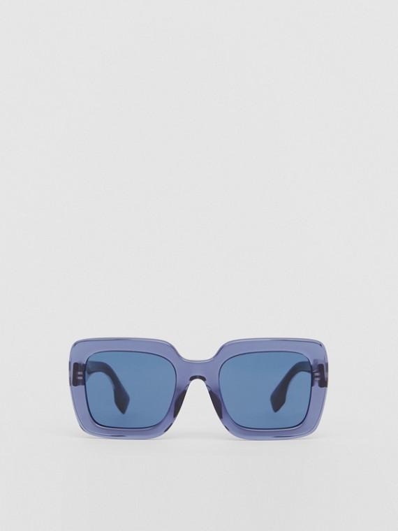 Oversized Square Frame Sunglasses in Blue