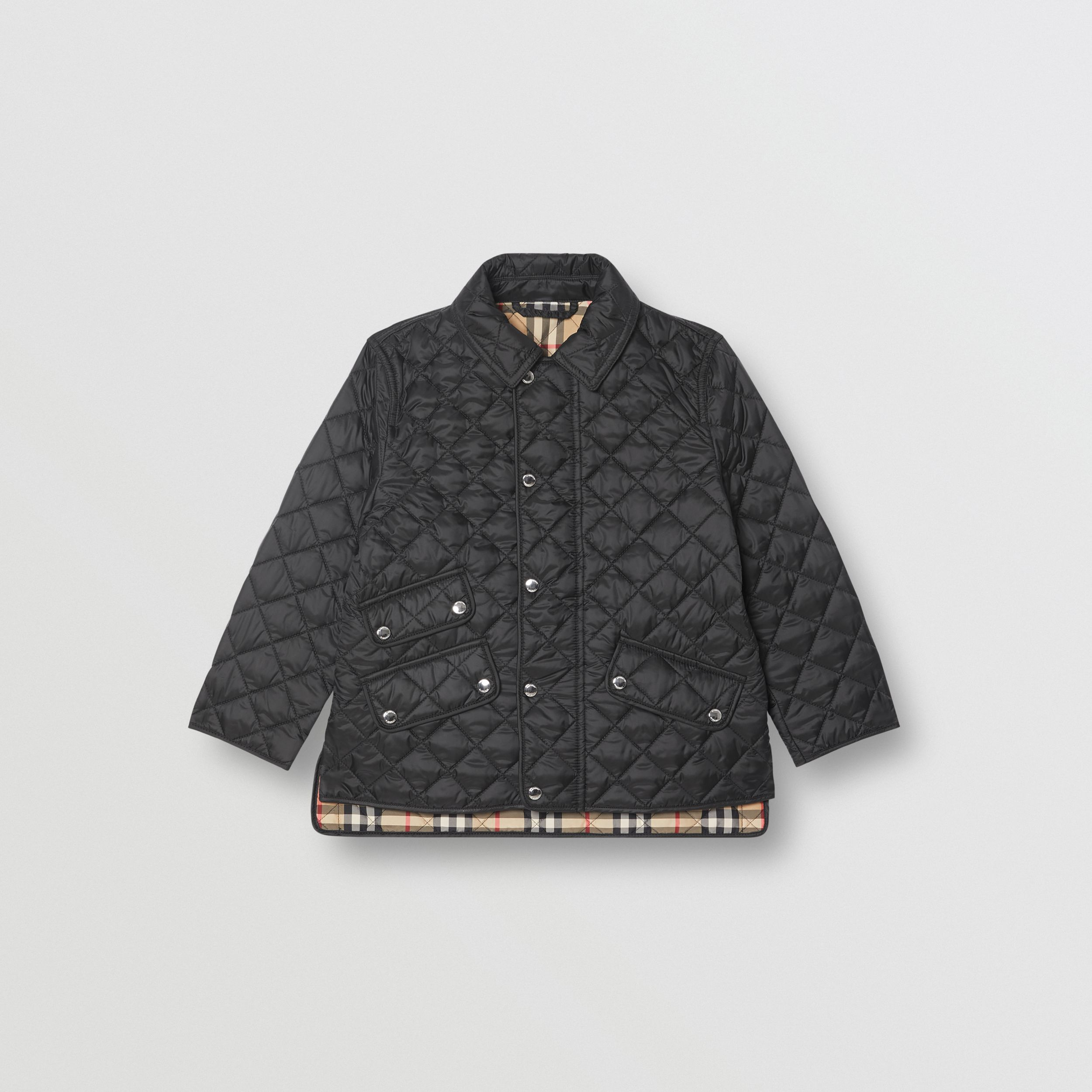 Lightweight Diamond Quilted Jacket in Black | Burberry - 1