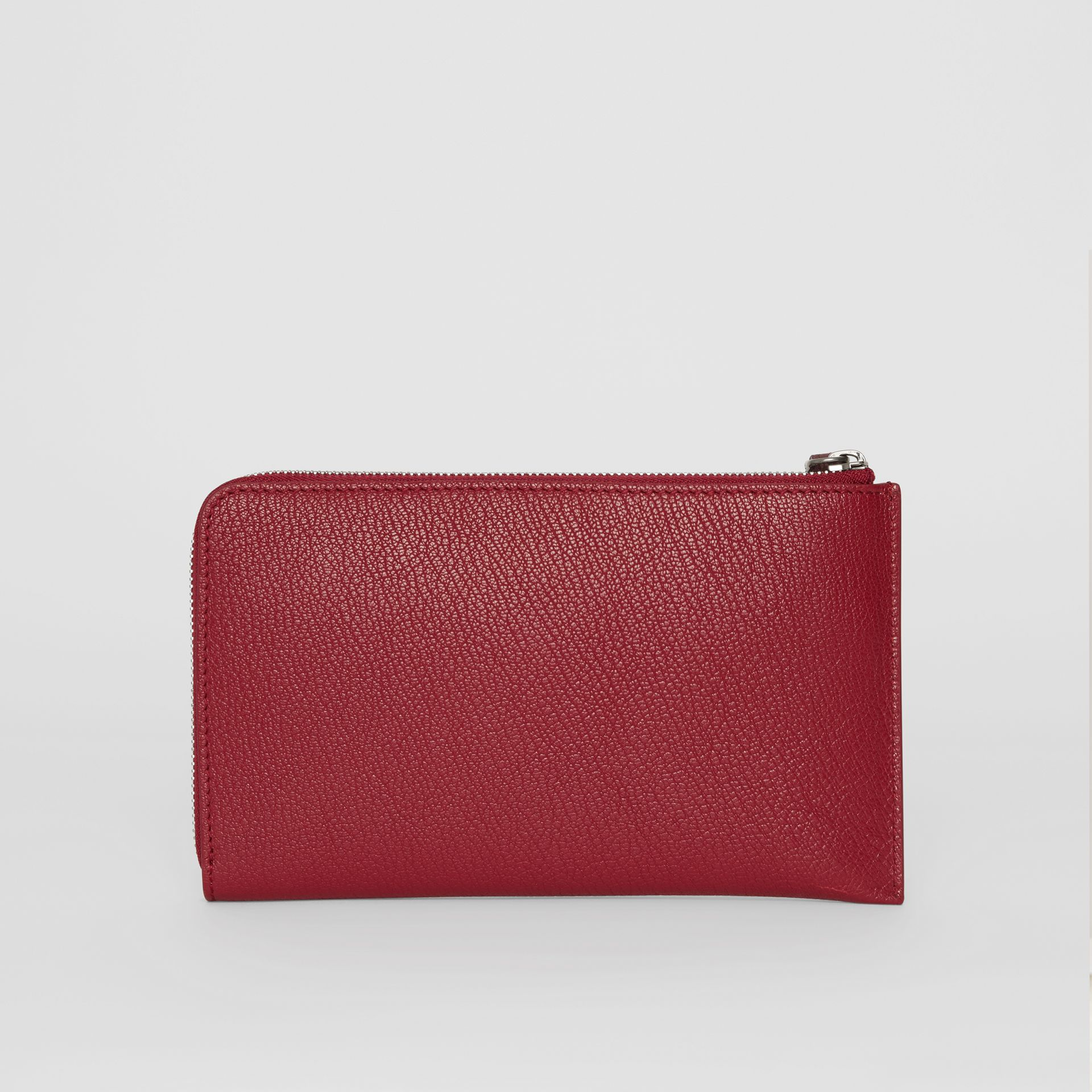 Two-tone Grainy Leather Travel Wallet in Crimson - Women | Burberry - gallery image 7
