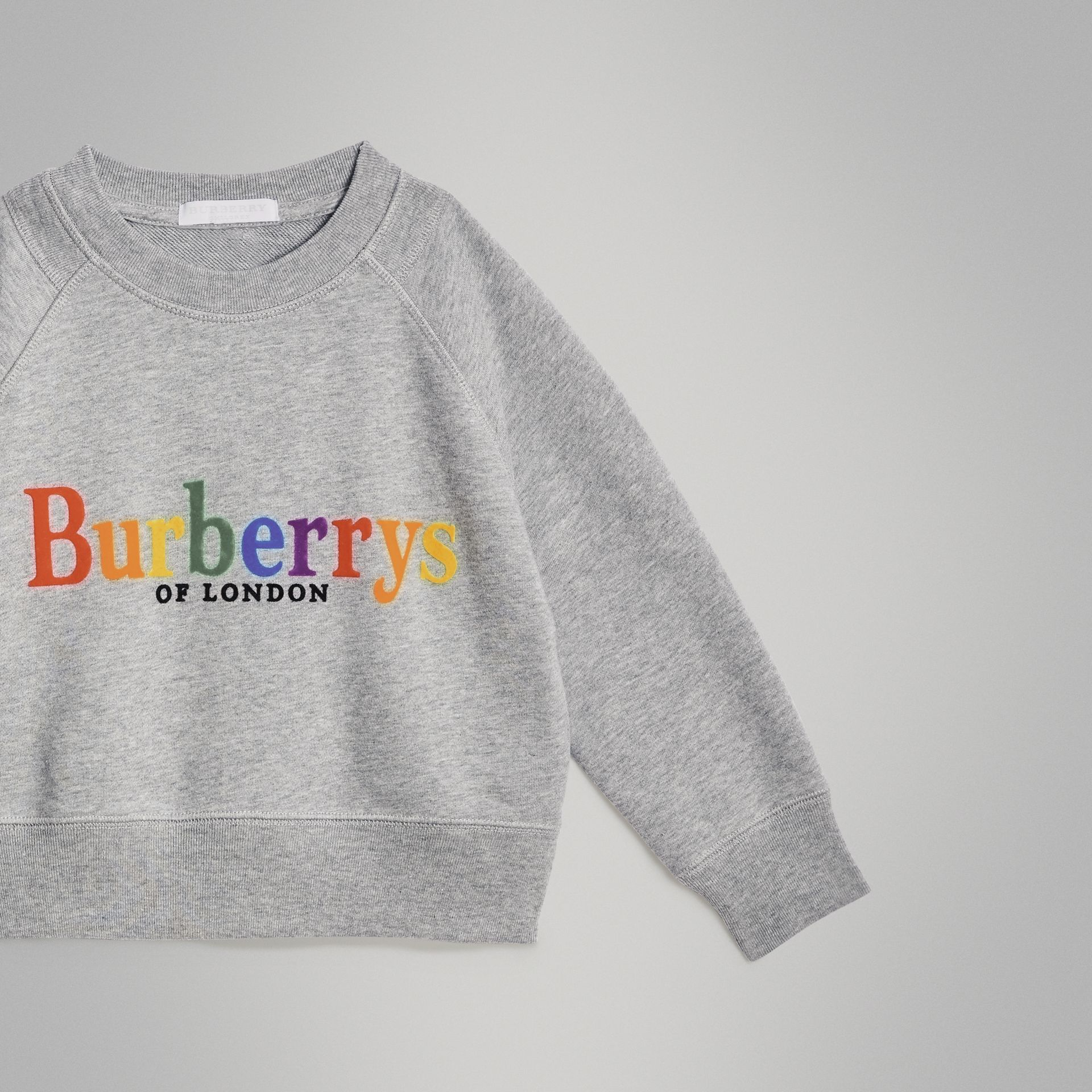 Archive Logo Cotton Jersey Sweatshirt in Grey Melange | Burberry - gallery image 4