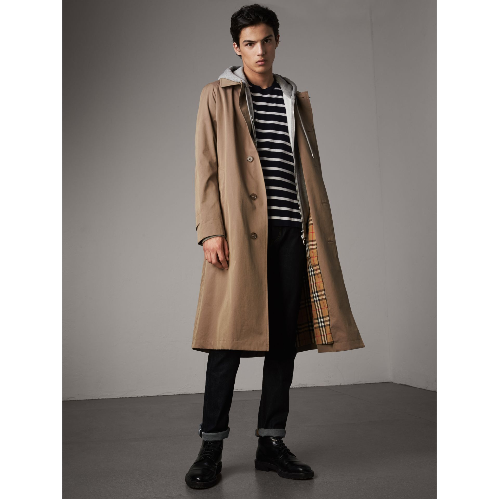 The Brighton – Extra-long Car Coat in Taupe Brown - Men | Burberry Canada - gallery image 1