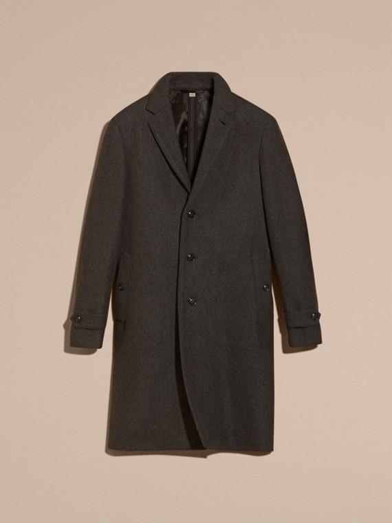Camaïeu anthracite Manteau ajusté à boutonnage simple en laine mélangée - cell image 3