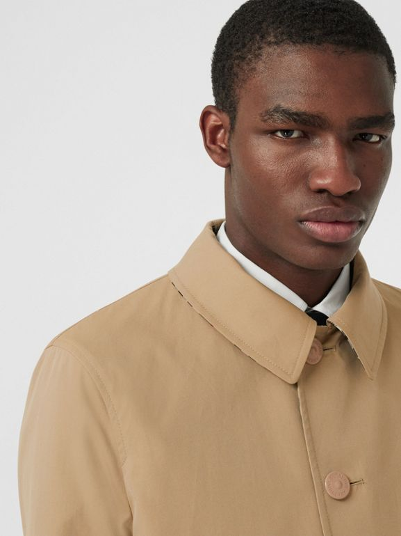 Reversible Vintage Check Recycled Polyester Car Coat in Archive Beige - Men | Burberry - cell image 1