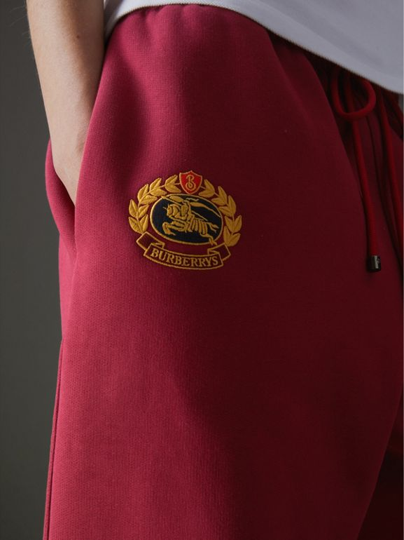 Archive Logo Jersey Sweatpants in Light Burgundy - Women | Burberry United Kingdom - cell image 1