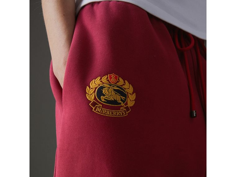 Archive Logo Jersey Sweatpants in Light Burgundy - Women | Burberry - cell image 1