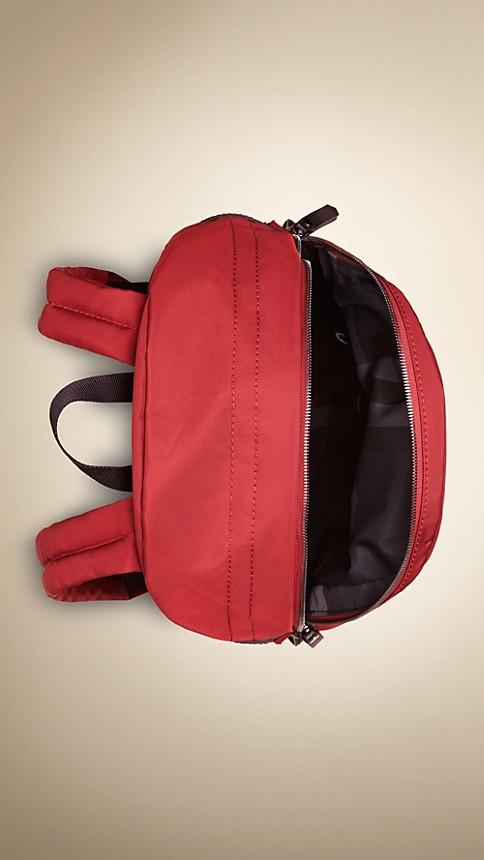 Rouge parade Sac à dos en nylon avec éléments en cuir - Image 4