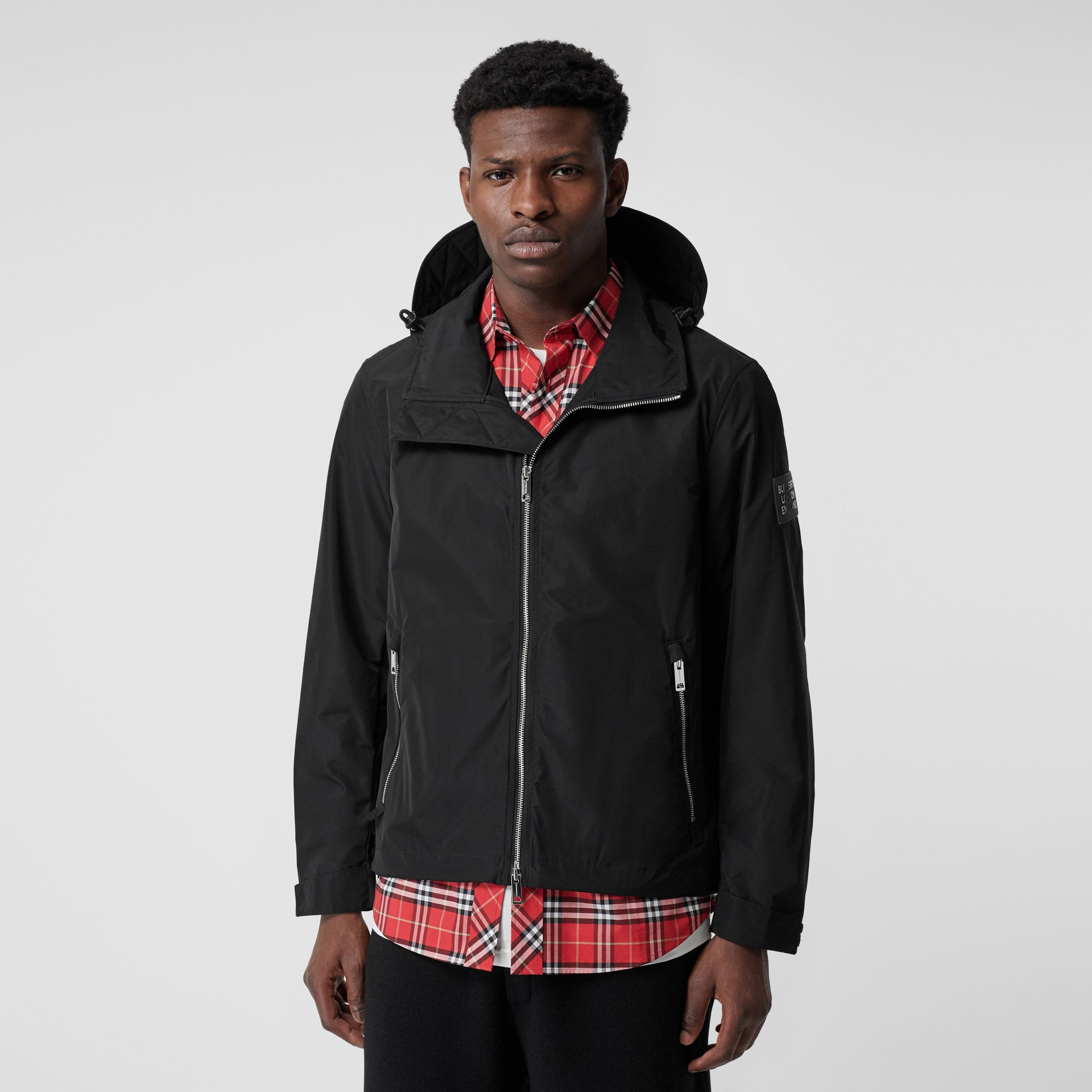 Packaway Hood Shape-memory Taffeta Jacket in Black - Men | Burberry Australia - gallery image 5