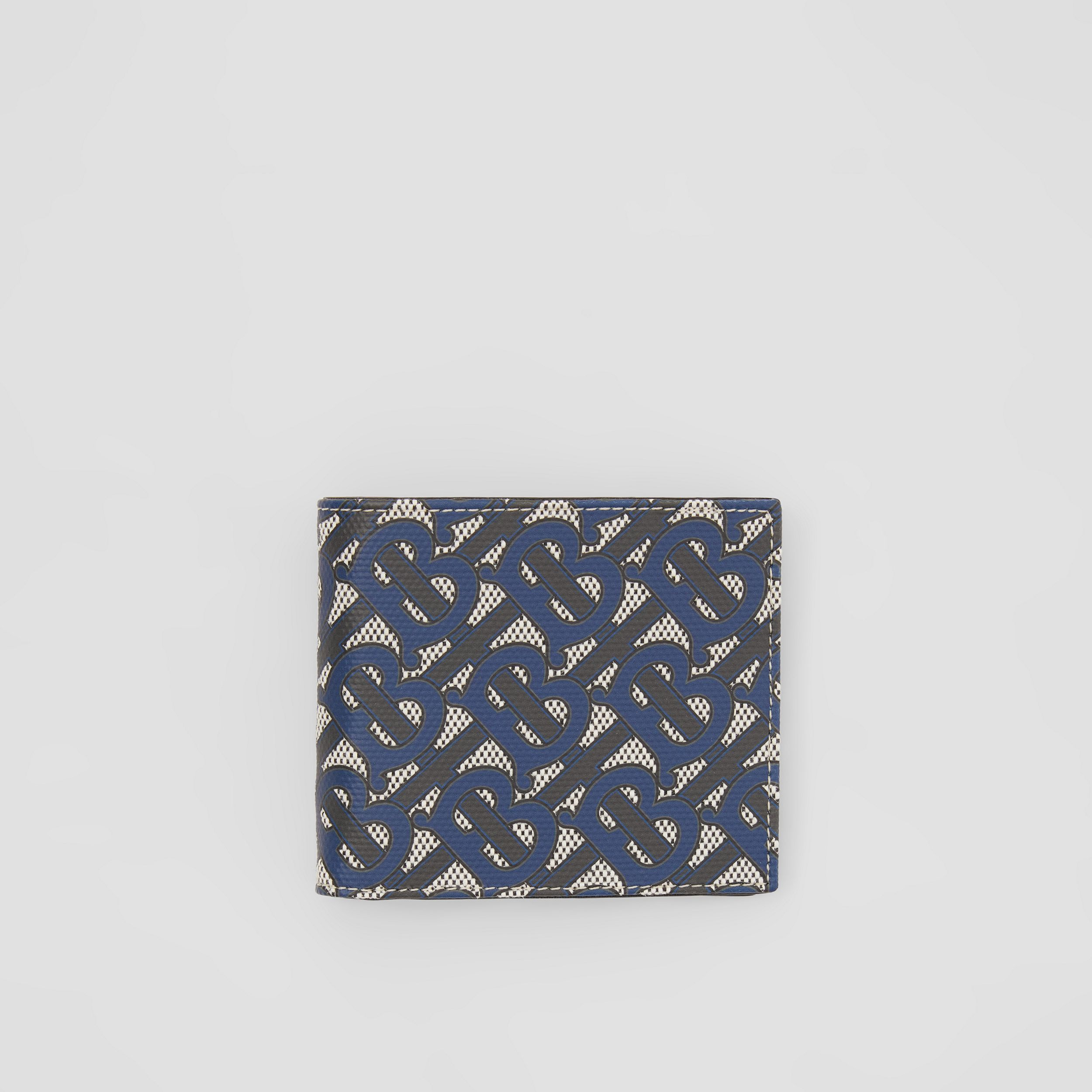 Monogram Print Canvas International Bifold Wallet in Ink Blue - Men | Burberry - 1