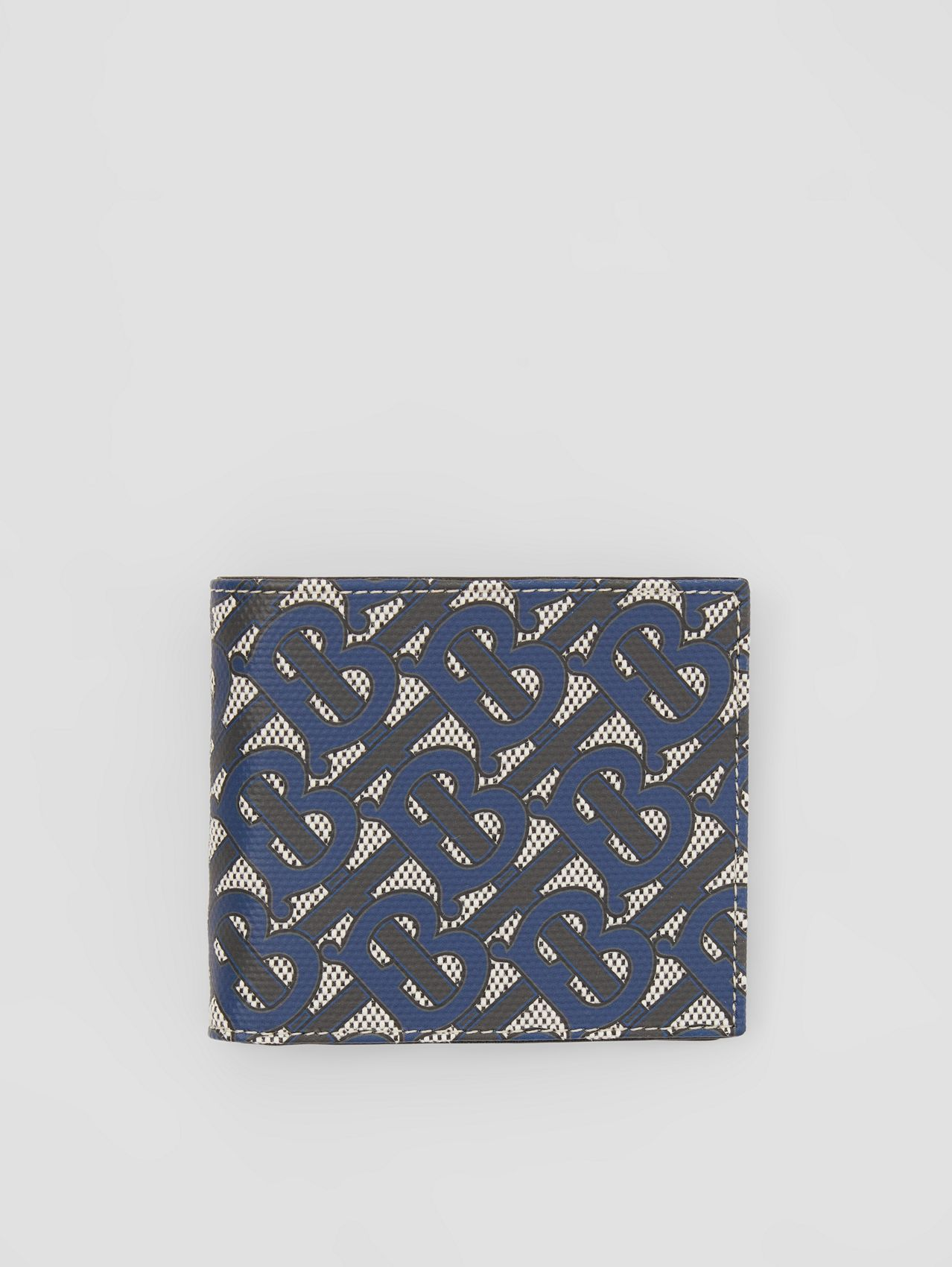 Monogram Print Canvas International Bifold Wallet in Ink Blue