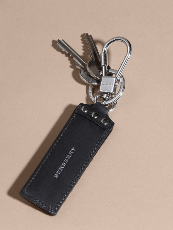 Embroidered Leather Key Ring - cell image 3