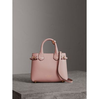 Burberry - The Baby Banner en cuir et coton House check - 7