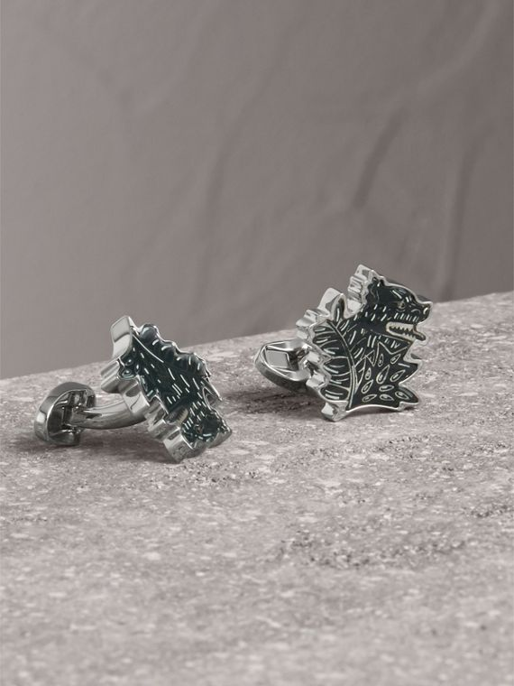 Beasts Brass Cufflinks - Men | Burberry