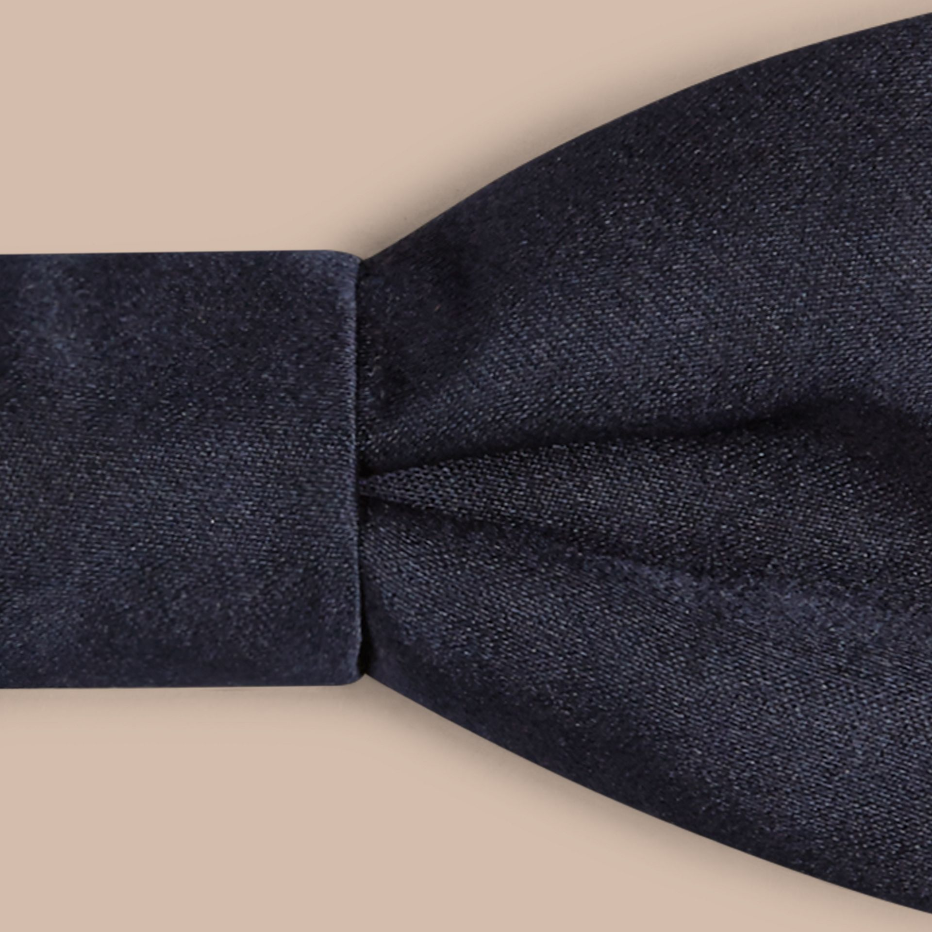 Black ink Classic Silk Bow Tie - gallery image 2