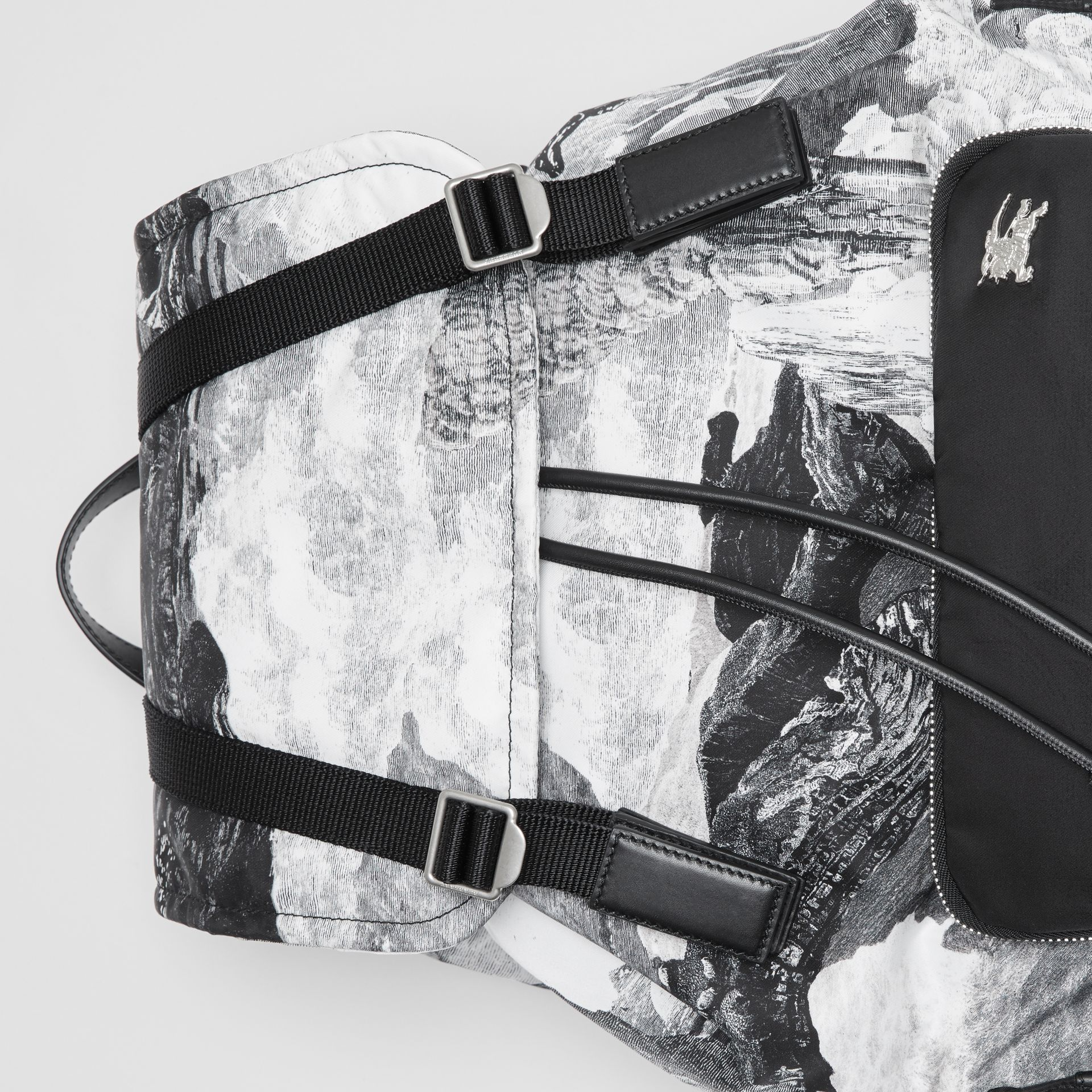 The Extra Large Rucksack in Dreamscape Print in Black/white - Men | Burberry Canada - gallery image 1