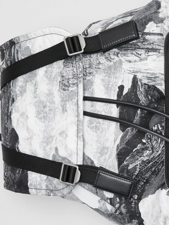 The Extra Large Rucksack in Dreamscape Print in Black/white - Men | Burberry Canada - cell image 1