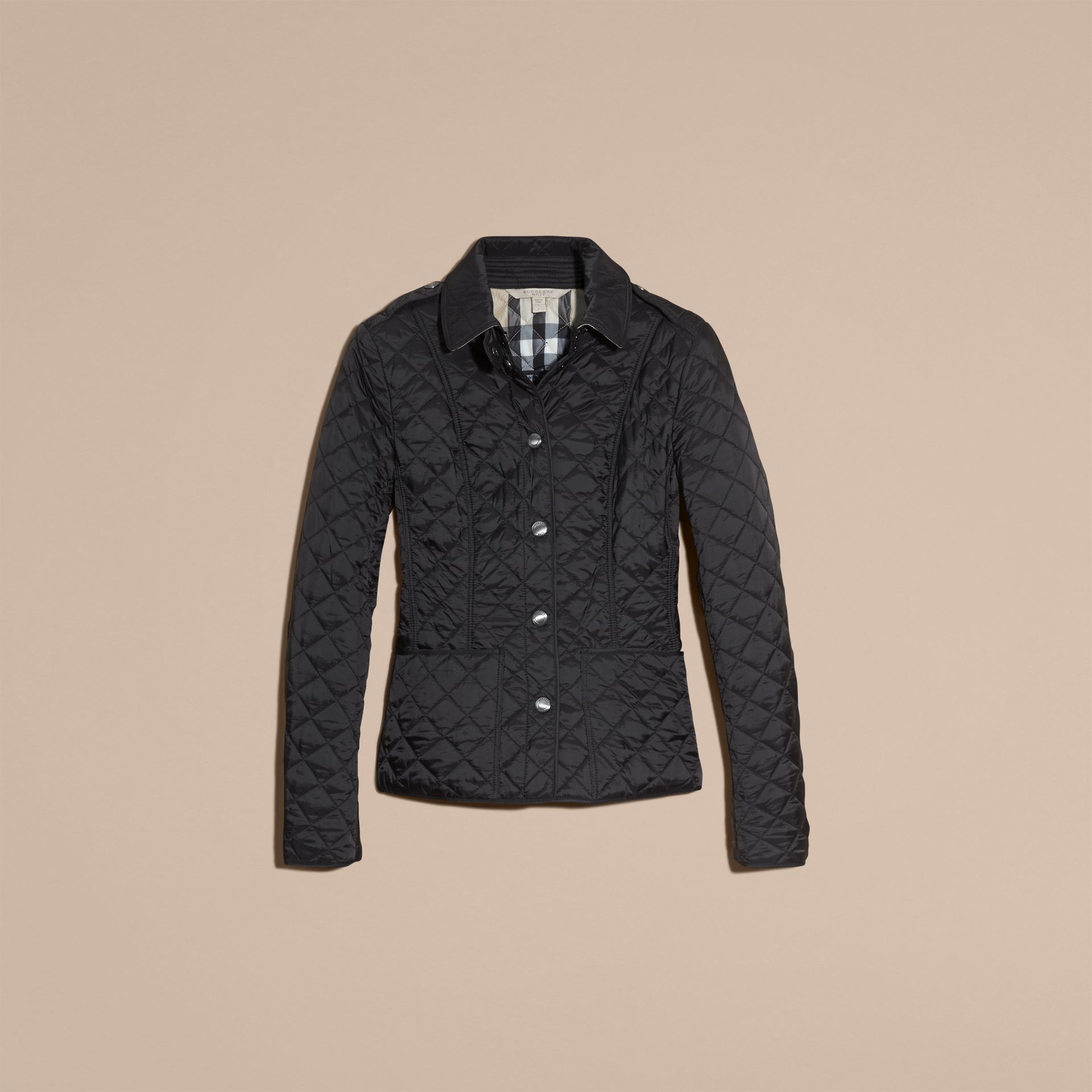 Black Diamond Quilted Jacket Black - gallery image 4