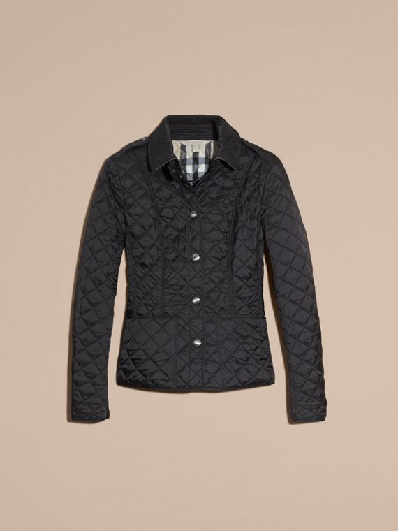 Black Diamond Quilted Jacket Black - cell image 3