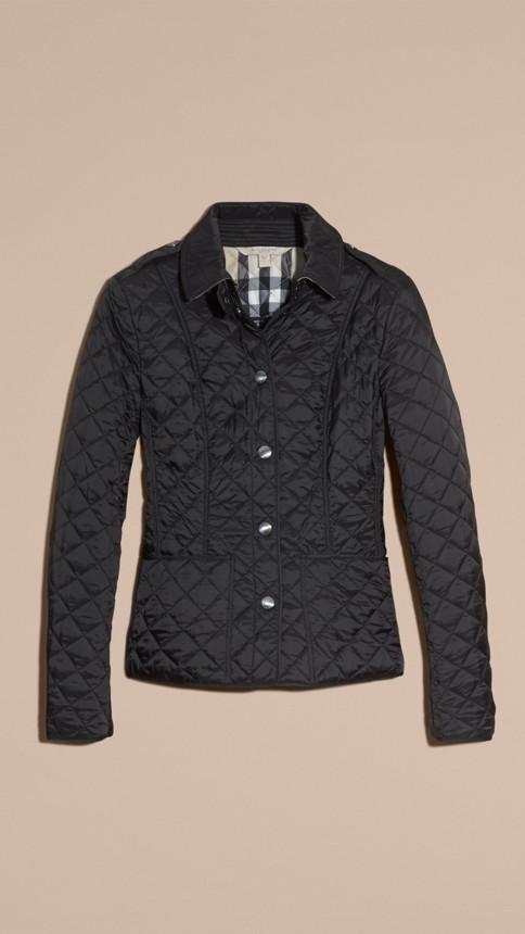 Black Diamond Quilted Jacket Black - Image 4