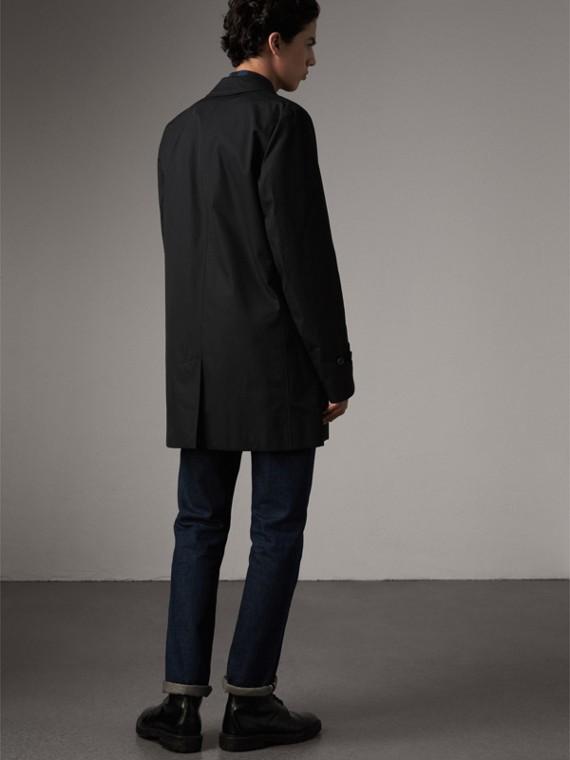 Cotton Gabardine Car Coat in Black - Men | Burberry - cell image 2