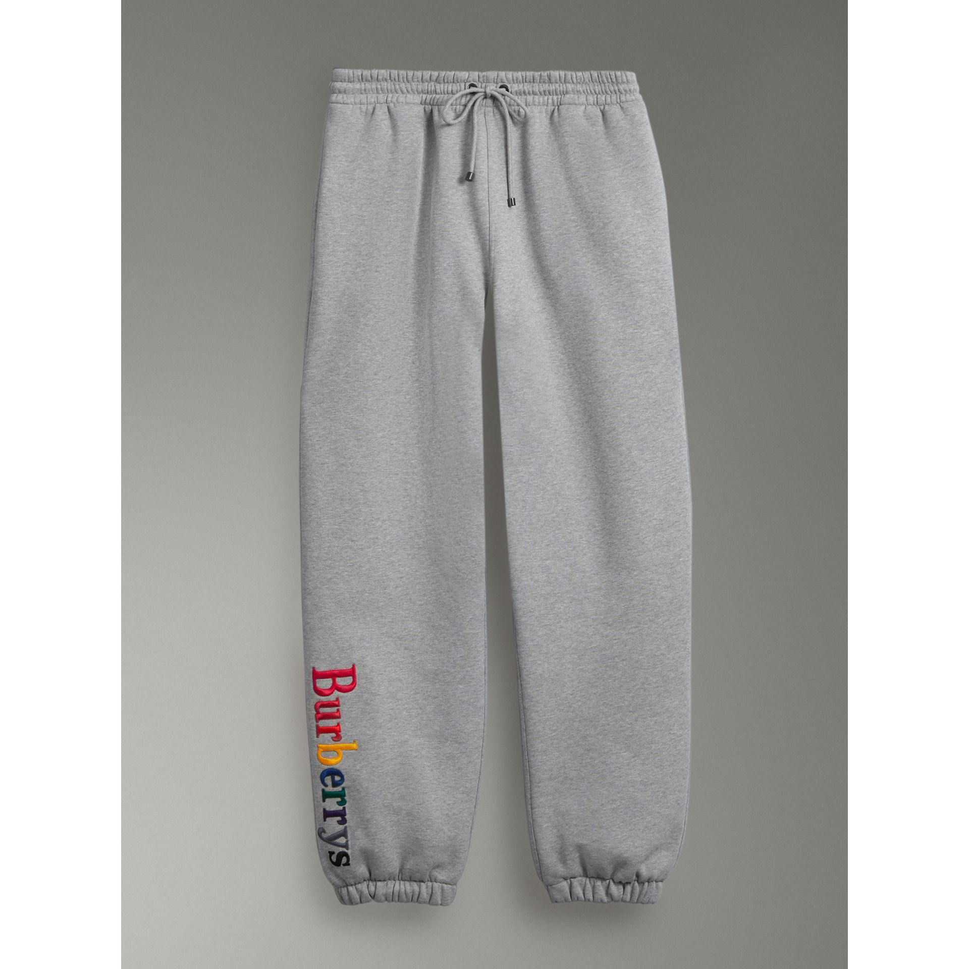 Archive Logo Jersey Sweatpants in Grey Melange - Women | Burberry - gallery image 3