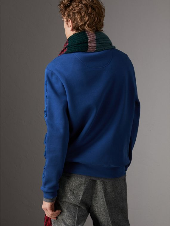 Cotton Jersey Sweatshirt in Bright Blue - Men | Burberry United Kingdom - cell image 2