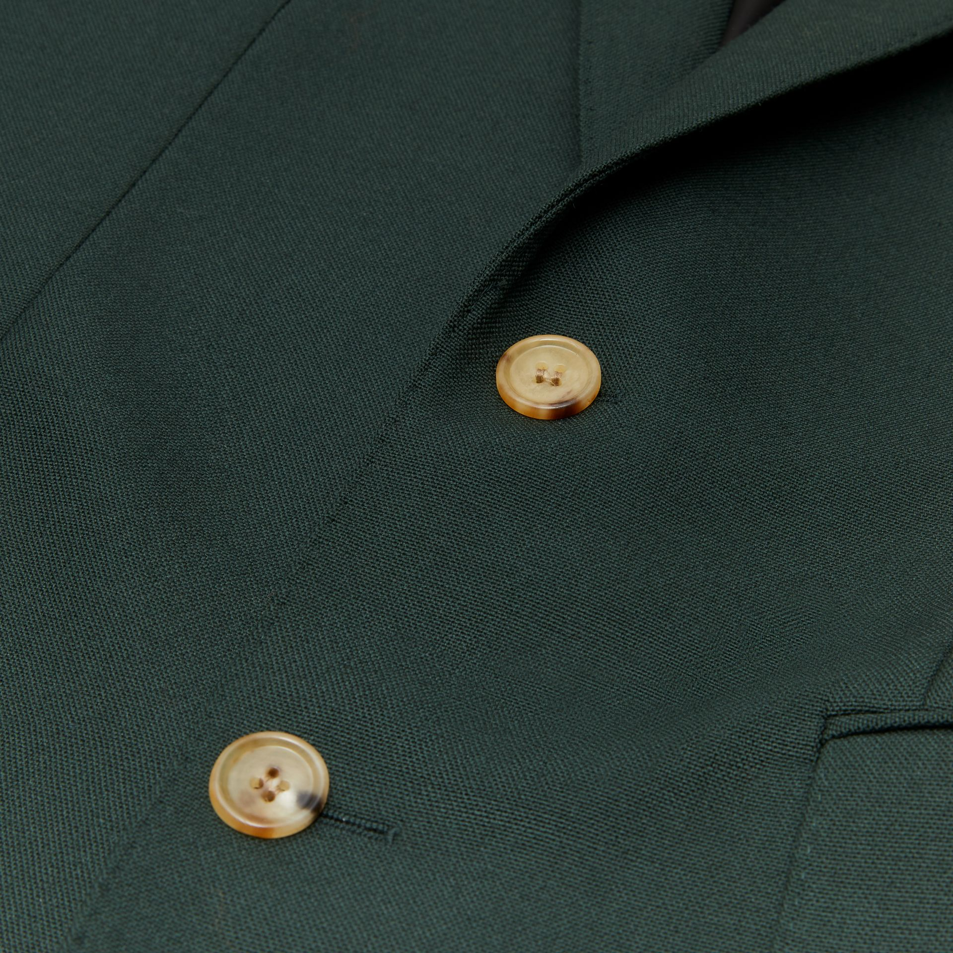 English Fit Wool Mohair Tailored Jacket in Dark Forest Green - Men | Burberry United Kingdom - gallery image 6